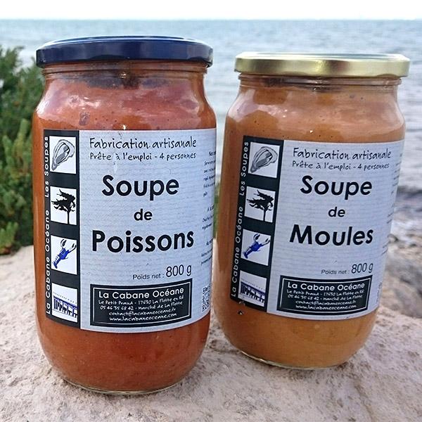 Soupes de moules et de poissons